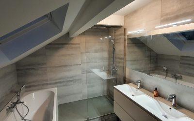 Rénovation d'une salle de bains à Cessy
