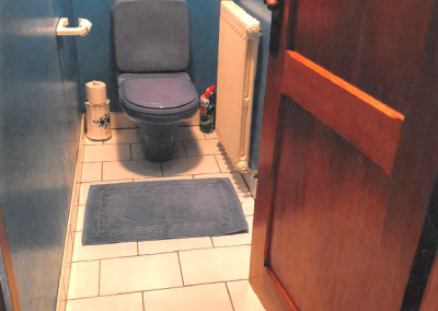 Coin WC avant la rénovation coin WC dans le Pays de Gex